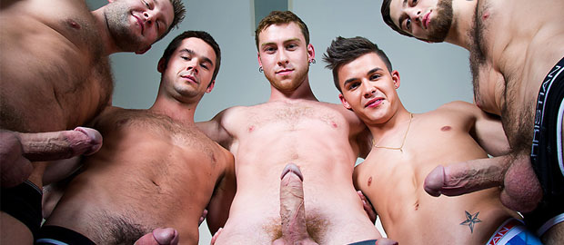 "Photo of [MEN] Jizz Orgy – ""Intervention"" con Andy Taylor, Colby Jansen, Connor Maguire, Mike De Marko y Tommy Defendi"