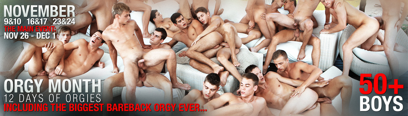 50 BOYS TO ENJOY THE MONTH ORGY