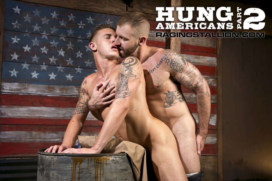"""[Raging Stallion] """"Hung Americans, Part 2"""" con Mike Dozer ..."""
