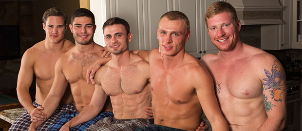 "Photo of [Sean Cody] ""Mountain Getaway: Day 2"" con David, Tanner, Bryce, Andy & Coleman"