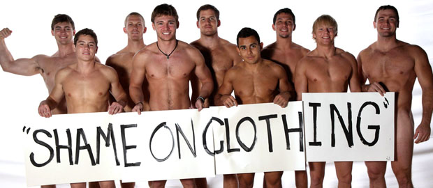 "Photo of [FRATMEN] Nueve chicos de Frat Pad juntos y en pelotas ""Shame on clothing"""