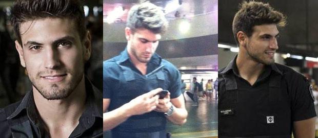 Photo of Guilherme Leao, el policía más guapo del metro de Brasil