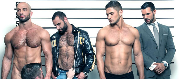 "Photo of [Men At Play] Dato Foland, Denis Vega, Paco y Bruno Boni se follan y lefan a Scott Hunter en ""The Line Up"""