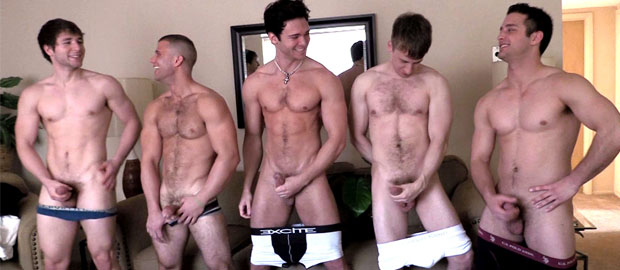 Photo of [GayHoopla] Jaden Storm, JJ Swift, Dmitry Dickov, Cole Money y Phillip Anadarko se montan una orgía de machos