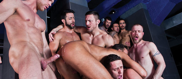 Photo of [Lucas Entertainment] Adam Killian's Ultimate Bareback Orgy con Tomas Brand, Valentino Medici, Marco Milan, Lars Svenson, Marco Sessions, Ivan Gregory, Fostter Riviera y Logan Moore