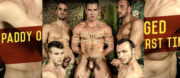"""Photo of Paddy O'Brian GANG BANGED for the first time ever! in MEN.com """"Prisoner Of War"""""""