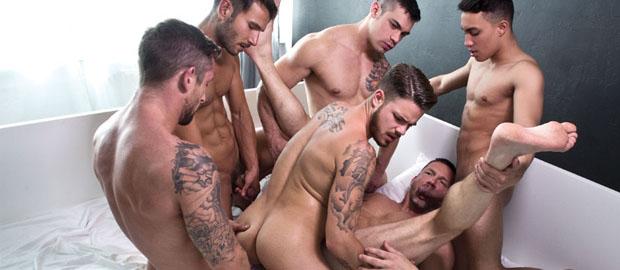 Photo of [Lucas Entertainment] Bareback Sex Party con Tomas Brand, Fabio Lopez, Fernando Torres, Misha Dante, Mark Sanz, Joey Pele y Nick North