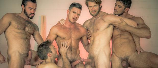"Photo of [MEN] Dato Foland, Colby Keller, Jessy Ares y Gabriel Clark se follan al macho alfa Paddy O'Brian en ""Howl 4"""