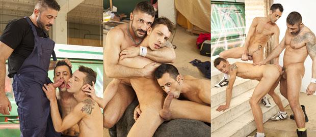 Photo of [Fucker Mate] Max Toro y Javi Mendez se follan sin condón a Adam Risso en el taller mecánico