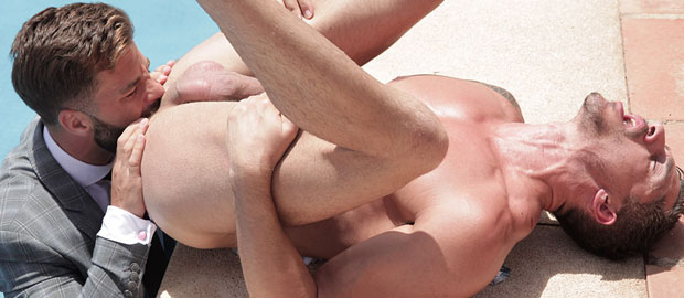 "Photo of [Men At Play] Hector de Silva se folla a Jay Roberts al borde de la piscina en ""Wet Hot"""