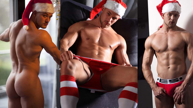 Photo of El chulazo Hennie muestra su poderoso culazo en Navidad para MaleModel.nl
