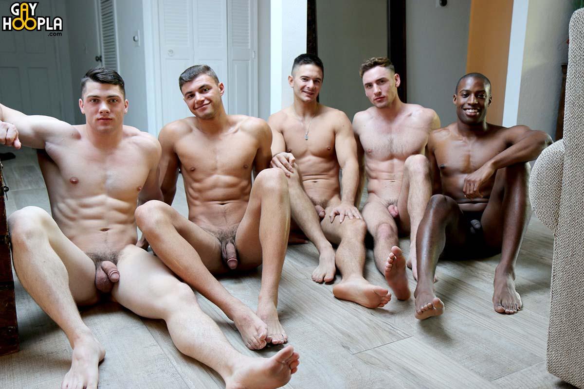 Photo of Orgía de tios heteros curiosos con Collin Simpson, Tyler Smith, Alex Griffen, Forrest Marks y Zach Douglas | GayHoopla