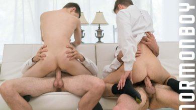 Photo of Garret y Xanders pierden la virginidad a pelo a manos de los hermanos Eyring y Strang | Mormon Boyz