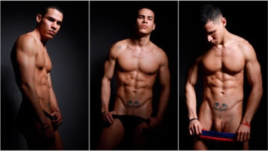 Photo of Freddy se desnuda entre las sombras mostrando su espectacular cuerpazo | Male Model